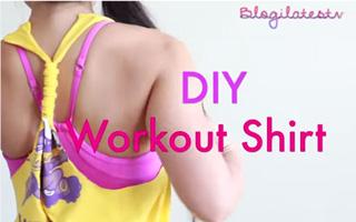 DIY เปลี่ยนเสื้อยืดย้วยๆ เป็นเสื้อออกกำลังกายสุดเก๋