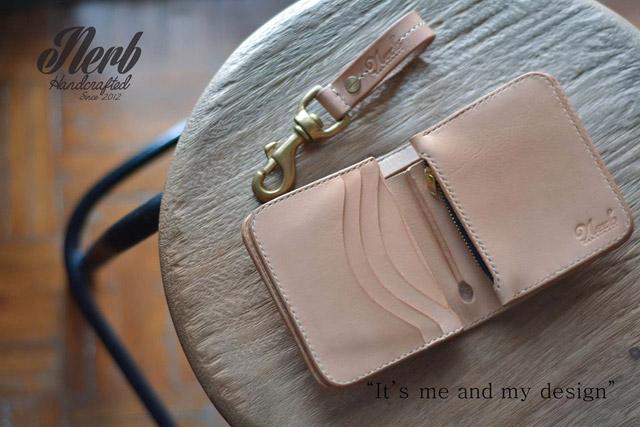 กระเป๋าเงินใบสั้น งานหนังจาก Nerb Handcrafted